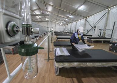 """印尼开放""""氧气屋""""为新冠患者提供治疗"""