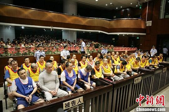 广州从化44人涉黑团伙案二审开庭主犯当庭翻供