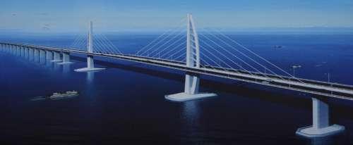 港珠澳大桥设计图一段.图片来源:大公报
