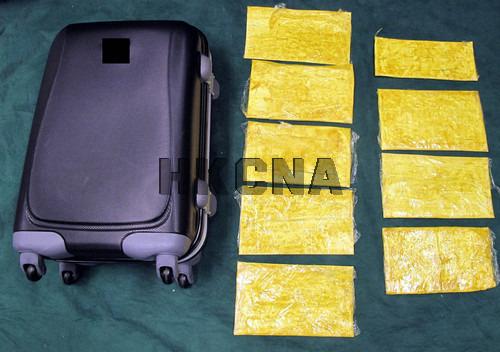 香港海关在机场检获可卡因毒品约值150万港元