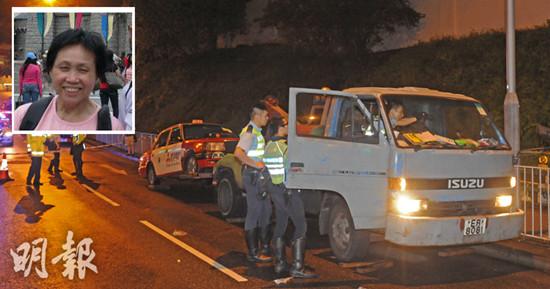 全香港唯一拖车女司机遇罕见车祸遭辗毙身亡