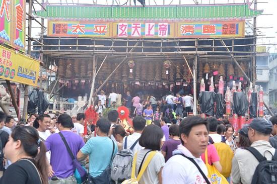 香港今迎长洲太平清醮预计六万人次往返(图)