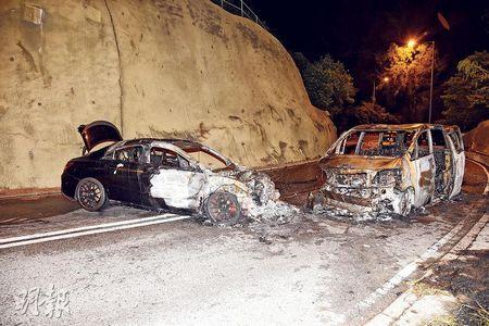 香港发生两车相撞事故6人险葬火海(图)
