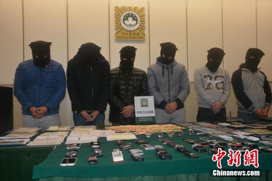 澳门6名警员涉组成犯罪集团被捕