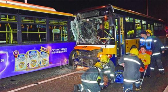 澳门发生三车相撞事故致32伤 大多轻伤3人留院