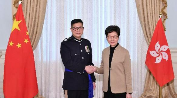 香港警务处处长邓炳强就任 服务警队超30年获多项嘉奖