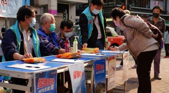 香港特首呼吁属优先组别的市民尽快接种疫苗��