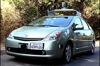谷歌研制无人驾驶汽车 在加州路试成功高清图片