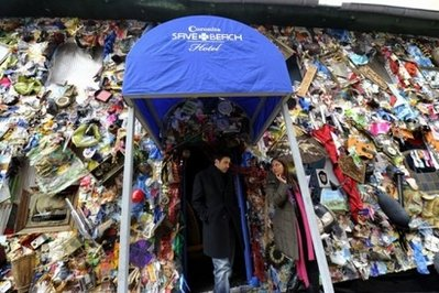 德 海灘垃圾旅館