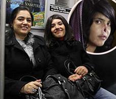 女孩 纽约/据外媒报道,遭塔利班士兵丈夫残忍割鼻而登上《时代》杂志封面...