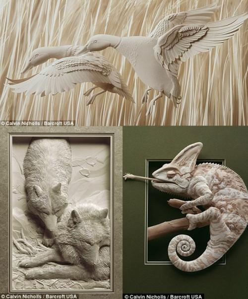动物 栩栩如生/这些剪纸动物栩栩如生...