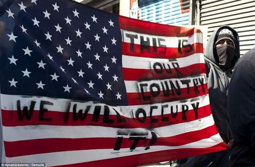 美华尔街抗议活动席卷全国多城市爆发游行(图)