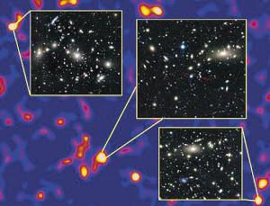 分布 暗物质 贴图 太空/暗物质分布拼贴图...
