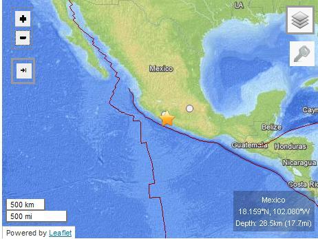 墨西哥地震震源深度调整到28公里 暂无伤亡(图