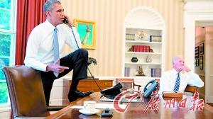 奥巴马脚踩办公桌打电话网友吐槽:收回你的脚