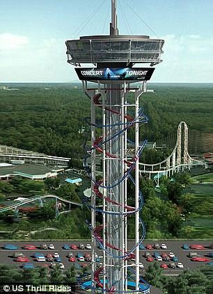 美将建全球最高过山车高158米时速96公里(图)