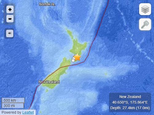 新西兰北岛发生6.3级地震
