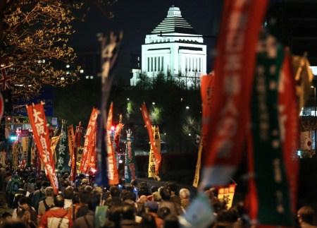 日本学者等5000人集会东京抗议行使集体自卫权