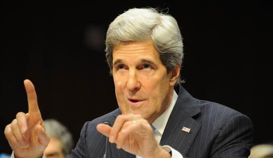 美国务卿克里访问埃及宣布解冻对埃军事援助