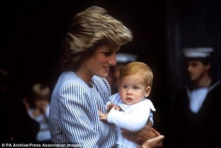 哈里王子和母亲戴安娜王妃(资料图)