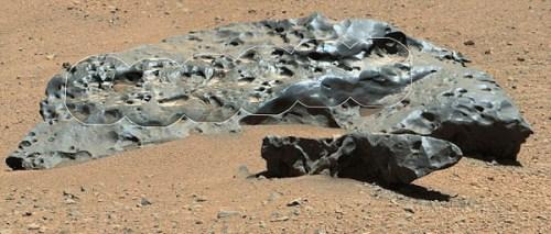 """""""好奇号""""火星车首次在火星上发现巨大陨铁(图)-中新"""