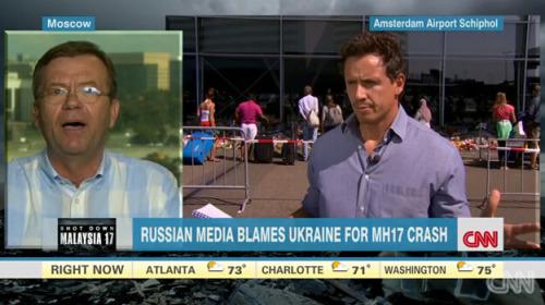 美俄电视主持人就马航坠机事件激烈争执(图)