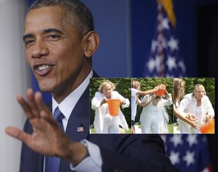 """奥巴马婉拒""""冰桶挑战""""选择向慈善团体捐款"""