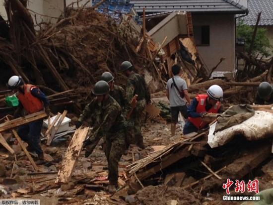 韩媒:日本广岛泥石流致2名韩国公民死伤(图)