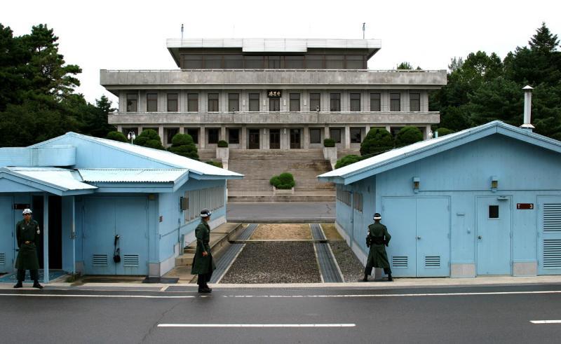 韩国板门店摄影展览馆开馆讲述朝鲜半岛历史