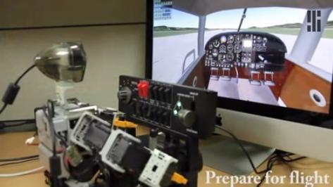 人形机器人模拟驾驶飞机飞行技术可达真人标准