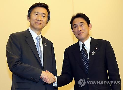 韩媒:韩日外长举行会谈 韩国对日态度有缓和