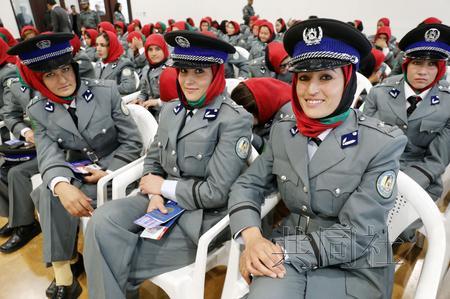 日本助阿富汗培训女警 入围者历经重重选拔(图)