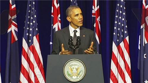 """奥巴马G20前演讲谈中美关系遗憾不能""""日光浴"""""""
