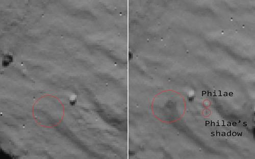 """""""罗塞塔""""飞船在彗星表面发现""""菲莱""""踪迹(图)"""