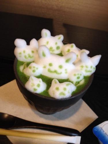 日本甜品店制作3D抹茶艺术 为咖啡添趣味(图)