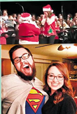 男子扮成圣诞老人求婚 女友称收到最好圣诞礼物