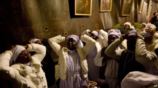 巴勒斯坦圣地举行圣诞庆祝活动 游客较少气氛低迷