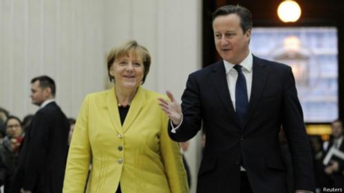 默克尔称希望英国留在欧盟 但未对修改盟约表态