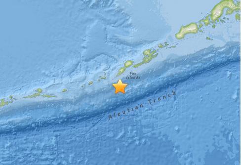 美国阿拉斯加阿留申群岛连发地震 无海啸威胁