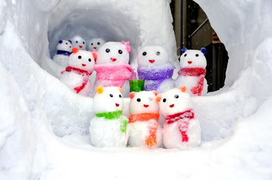 日本石川县举办雪人节 雪人齐聚冰雪世界(图)
