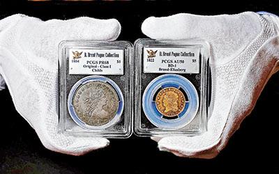 """""""美国钱币之王""""将拍卖成交价或达千万美元(图)"""