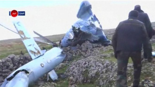 外媒称叙政府直升机在反对派控制区坠毁4人被抓