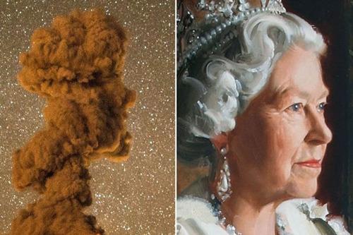 墨西哥一火山喷发火山灰形状似英女王头像(图)