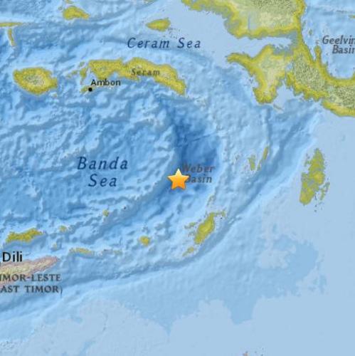 印尼东部海域发生5.0级地震震源深度116公里