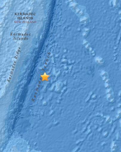 新西兰东北部海域发生5.0级地震暂无海啸预警