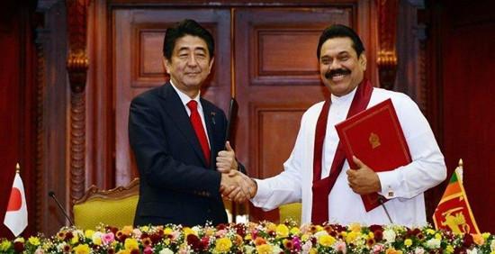 安倍与斯里兰卡总理会谈将举行海洋安全对话(图)