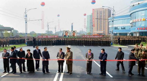 朝鲜未来科学家大街落成系金正恩视察时命名(图)