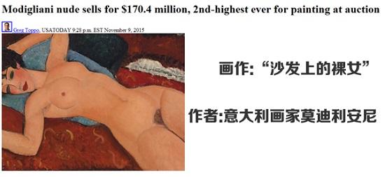 名画拍卖再出天价意大利画家作品1.7亿美元售出