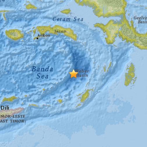印度尼西亚海域发生5.2级地震 暂无海啸预警