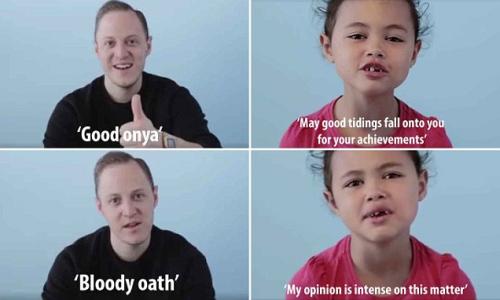 萌萌哒:6岁小女孩教澳大利亚方言视频窜红网络